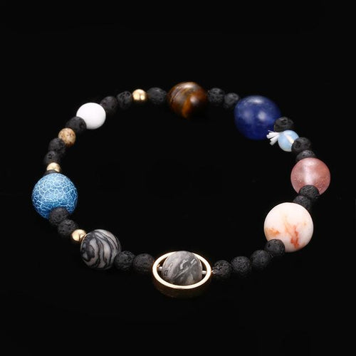 Solar System Stone Bead Bracelet - Swag Factory