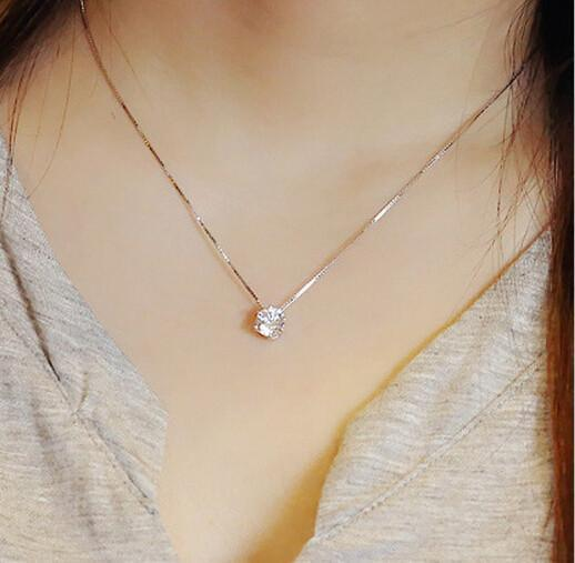 Diamond Sterling Silver Necklace