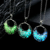 Glowing Crescent Necklace
