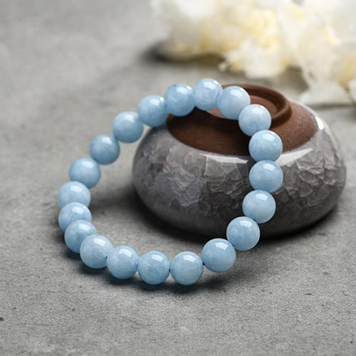Natural Aquamarine Mind Clarity Stone Bracelet - Swag Factory