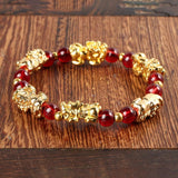 Red Garnet Lucky Pixiu Wealth Bracelet - Swag Factory