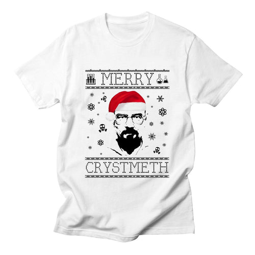 Walter White Heisenberg Christmas Breaking Bad Mens T-Shirt - Swag Factory
