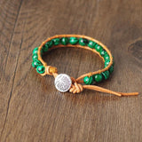 Malachite Beads Wrap Leather Bracelets - Swag Factory