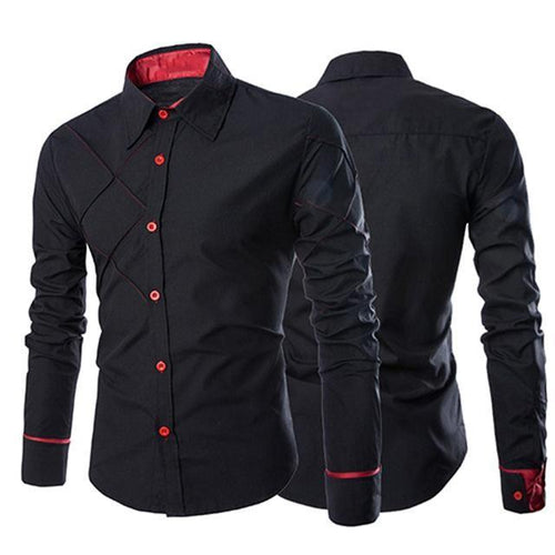 Business Casual Buttoned Formal Long Sleeve Shirt - Swag Factory