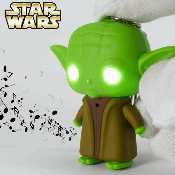 Yoda LED Keychain
