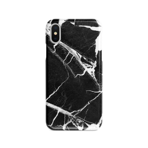 iPhone Case - Black Polished Marble