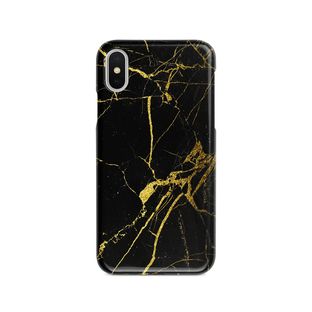 iPhone Case - Black Gold Marble