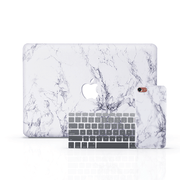 MacBook Case Set - White Marble - colourbanana