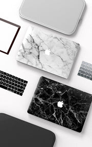 Macbook Case - Black Smoke Marble