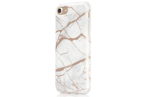 Shop Designer iPhone 7 plus Cases and Covers. Best iPhone 6 Cases and Covers with Impact Protection and Stylish Design.Free Shipping and warranty on orders today!iPhone Case - White & Rose Gold Metallic Marble - Colour banana