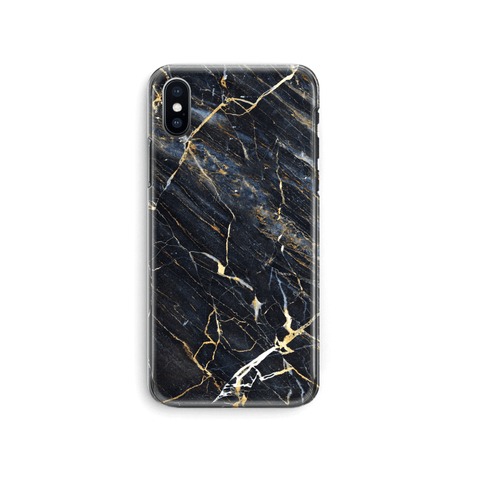 iPhone Case -  Midnight Blue Marble