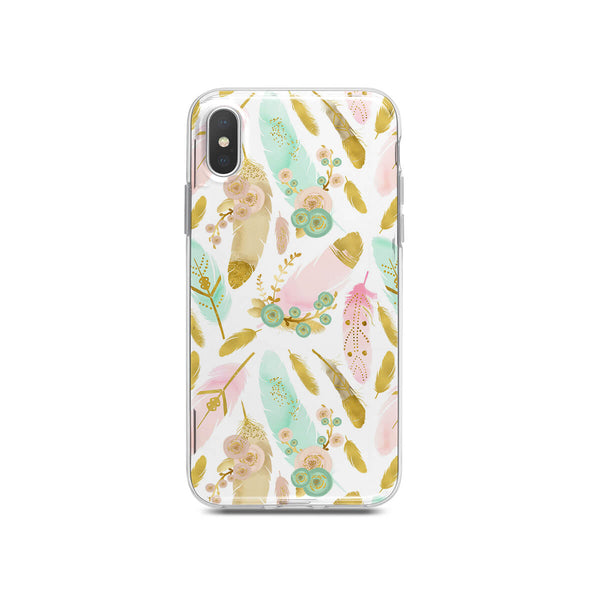 iPhone Case - Watercolor Feathers Boho