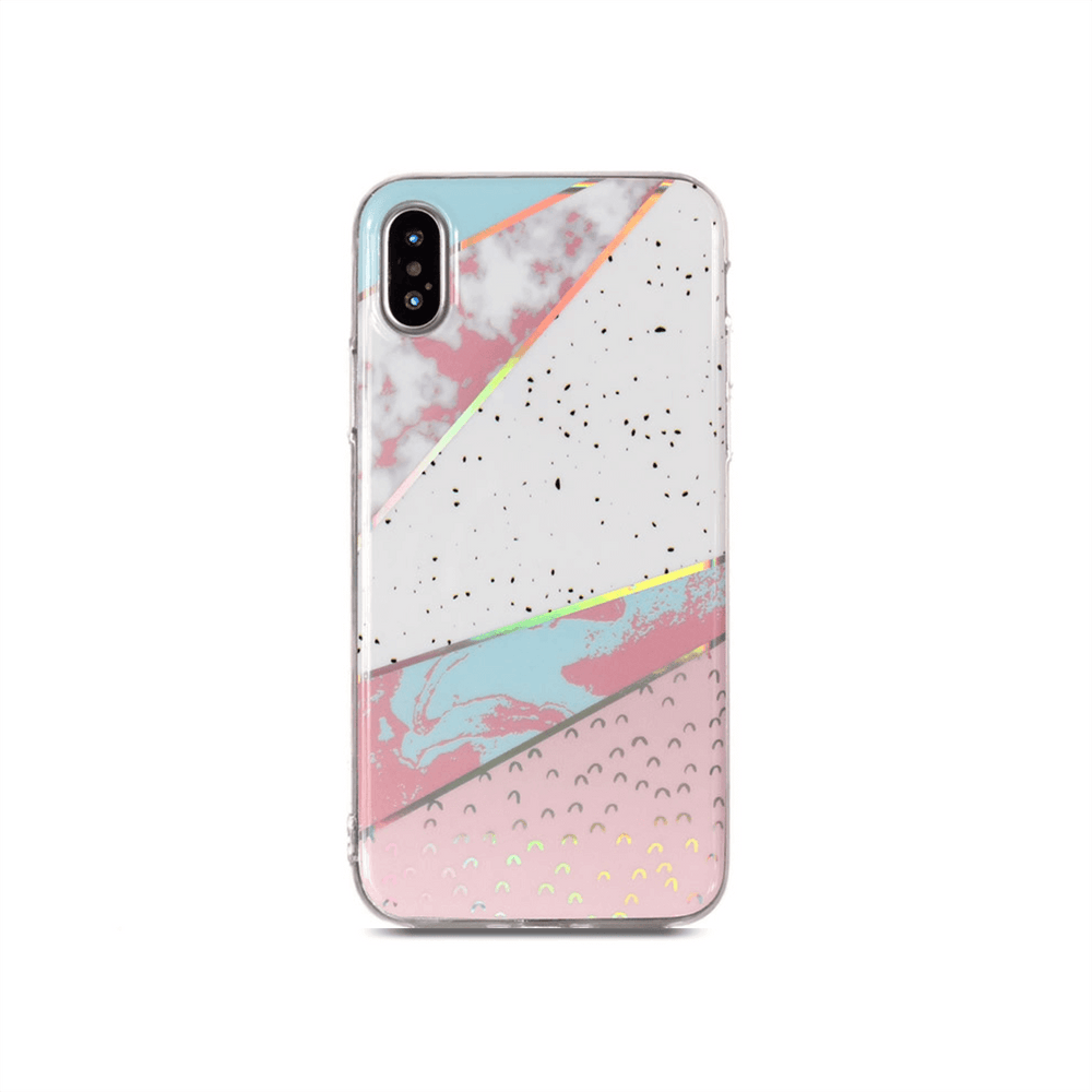 iPhone Case - Peony Blush Geometric Marble