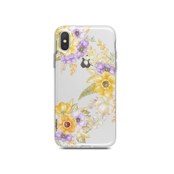 iPhone Case - Yellow Watercolor Flowers