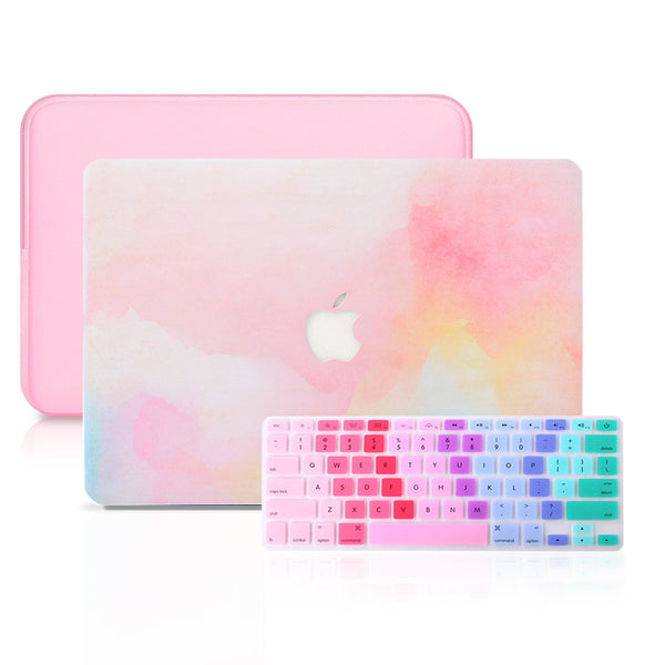 MacBook Case Set - Protective Rainbow Mist Color