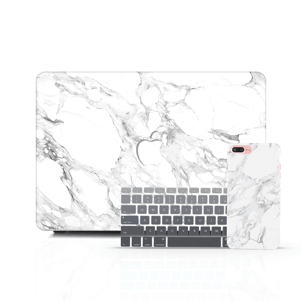 MacBook Case Set - Olympic White Marble - colourbanana