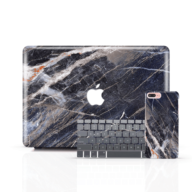 MacBook Case Set - Manhattan Honed Marble - colourbanana