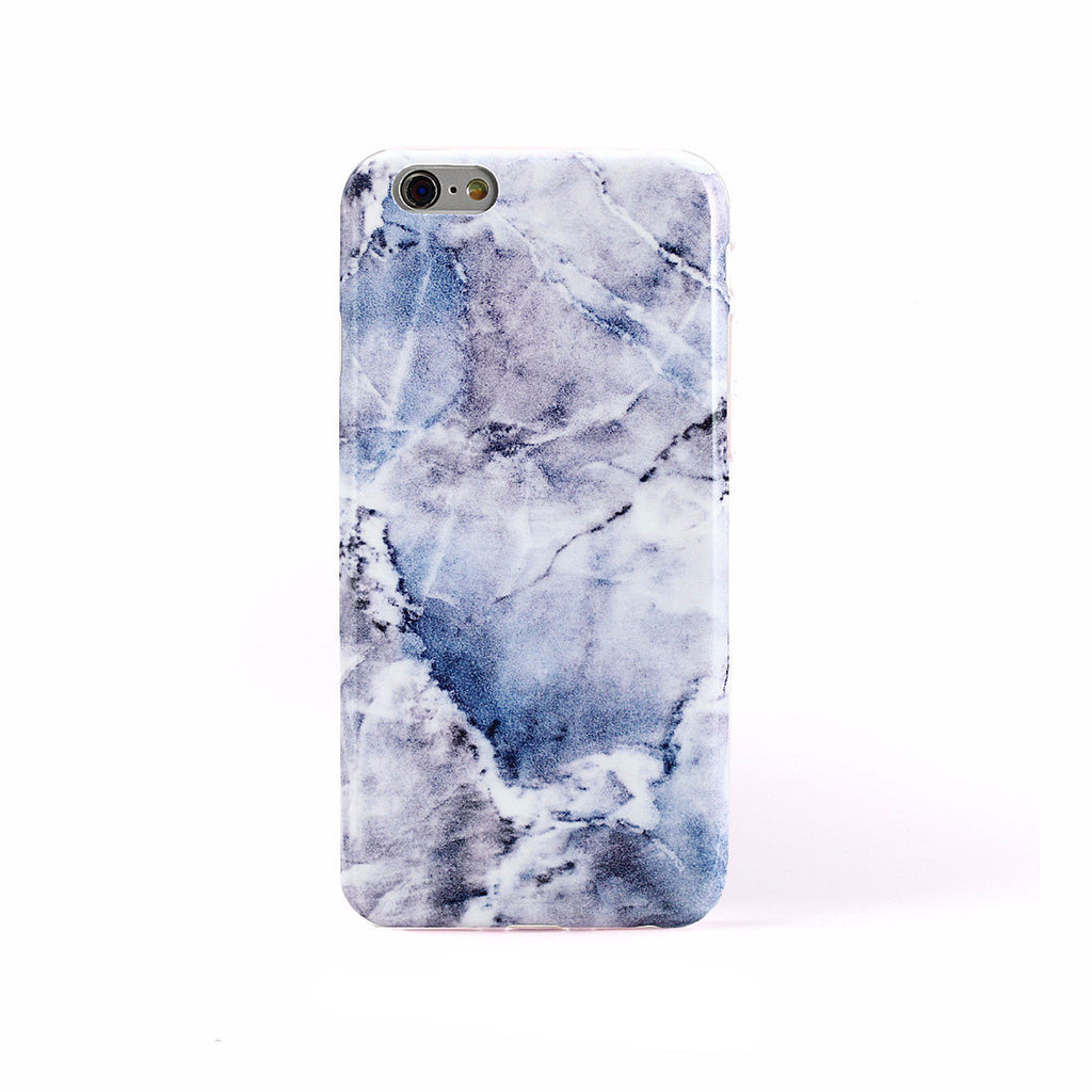 iPhone Case -  Blue Hint Marble - colourbanana
