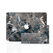 MacBook Case Set - Cracked Black Marble - colourbanana