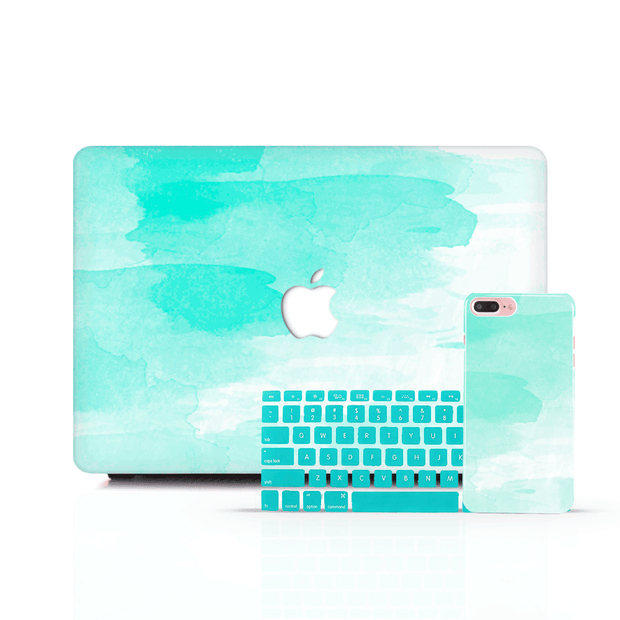 MacBook Case Set - Mint Sky - colourbanana