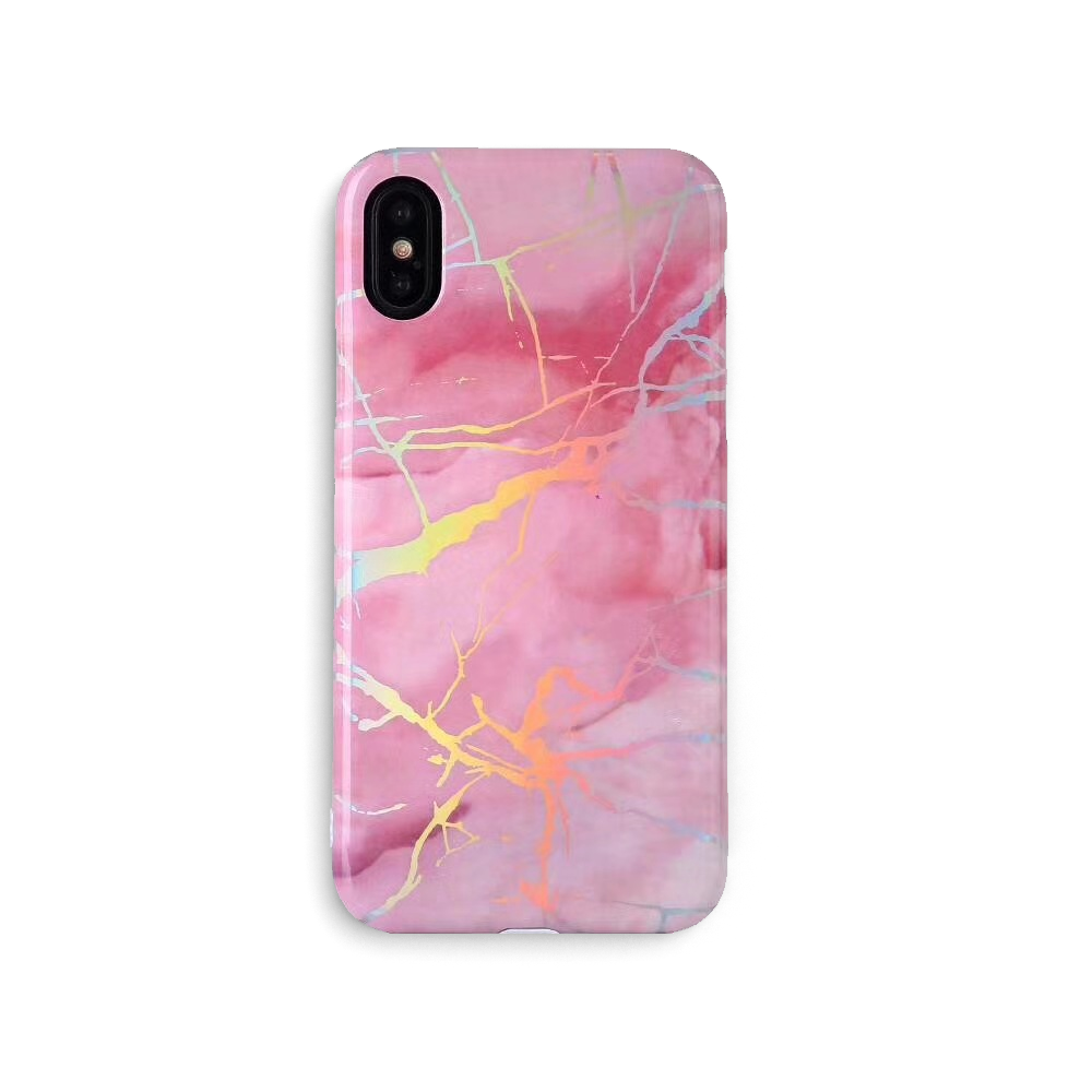 iPhone Case - Holo Pink Marble