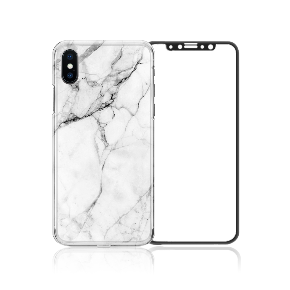 iPhone X Package - White Marble