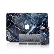 MacBook Case Set - Subtle Blue Marble