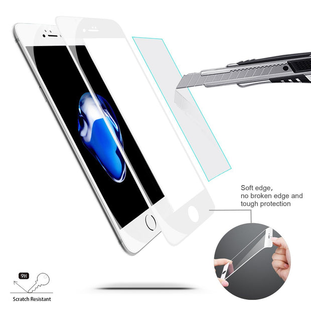 White Gorilla Glass Screen Protector - colourbanana