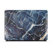 Macbook Case Set - Protective Subtle Blue Marble