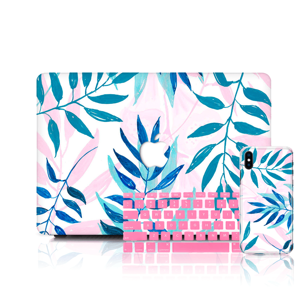 MacBook Case Set - Pastel-Leaves