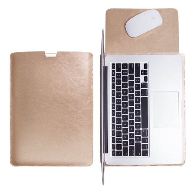 Macbook Leather Sleeve Cover - Gold - Colourbanana