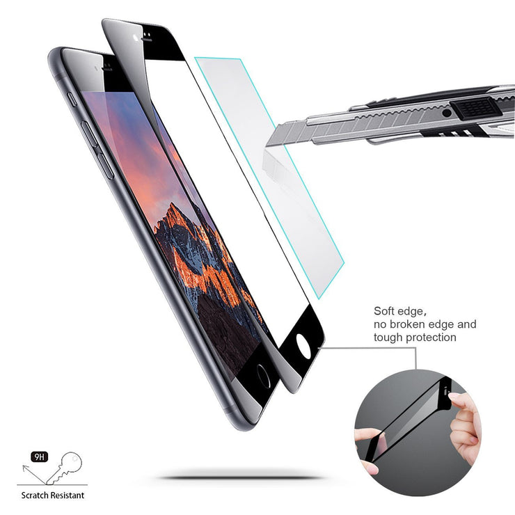 Black Gorilla Glass Screen Protector - colourbanana