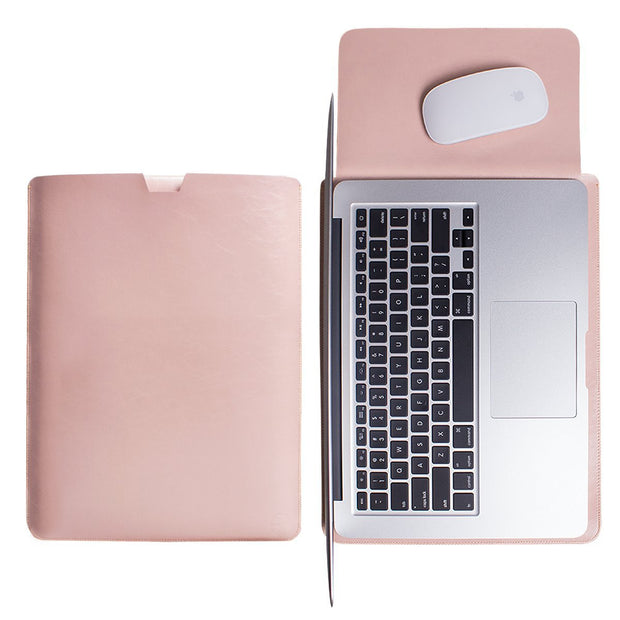Macbook Leather Sleeve Cover - Pink