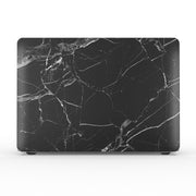 Macbook Case Set - Protective Full Black Marble