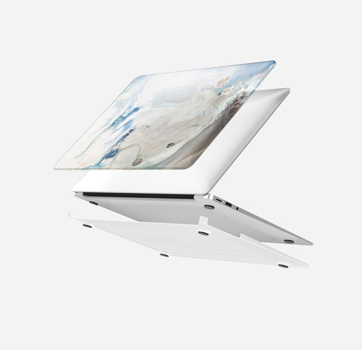 MacBook Case Set - 360 White Dream Marble