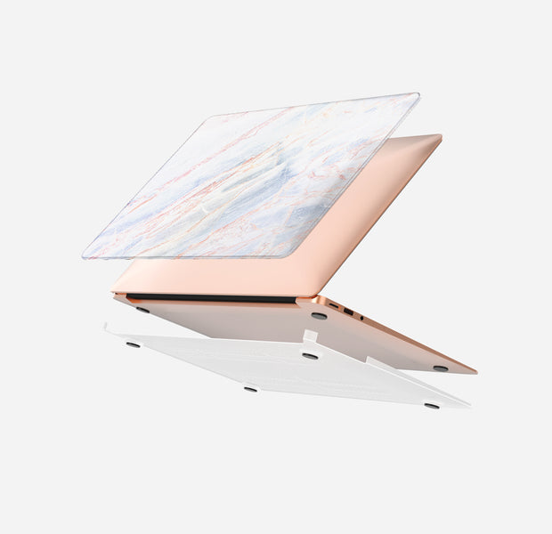 Macbook Case Set - Protective Lacteous Marble