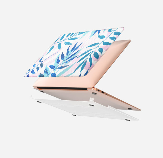 MacBook Case Set - Protective Pastel-Leaves