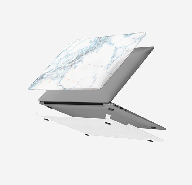 Macbook Case Set - Protective Retro White Marble