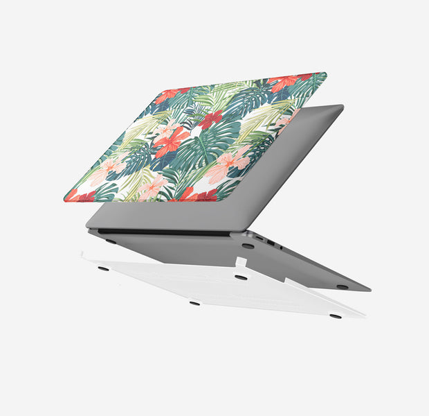 Macbook Case - Hawaiian Tropical Flowers Air 13 M1 2020