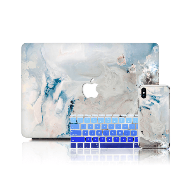 MacBook Case Set - White Dream Marble
