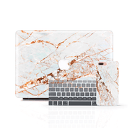MacBook Case Set - Gold Streak Marble - colourbanana