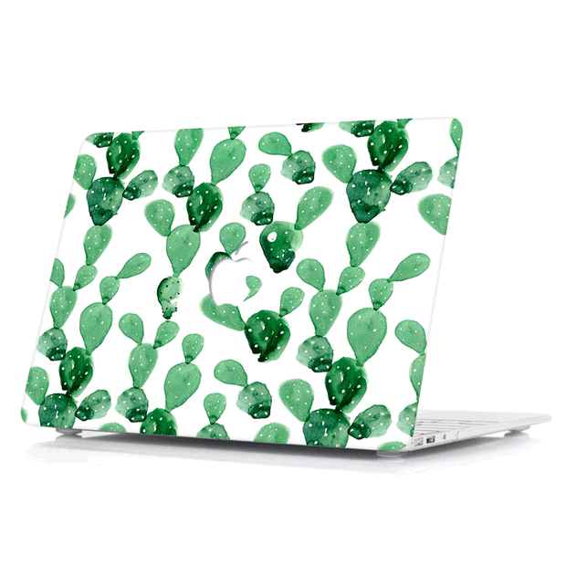 Macbook Case - Watercolor Cactus - colourbanana