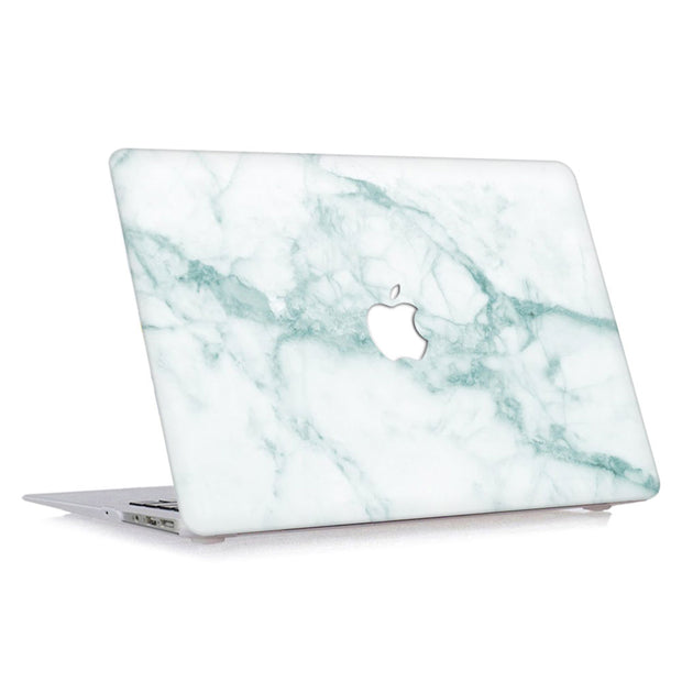 Macbook Case - Emerald Green and Marble - colourbanana