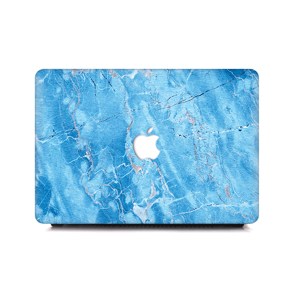 Macbook Case - Turquoise Marble - colourbanana