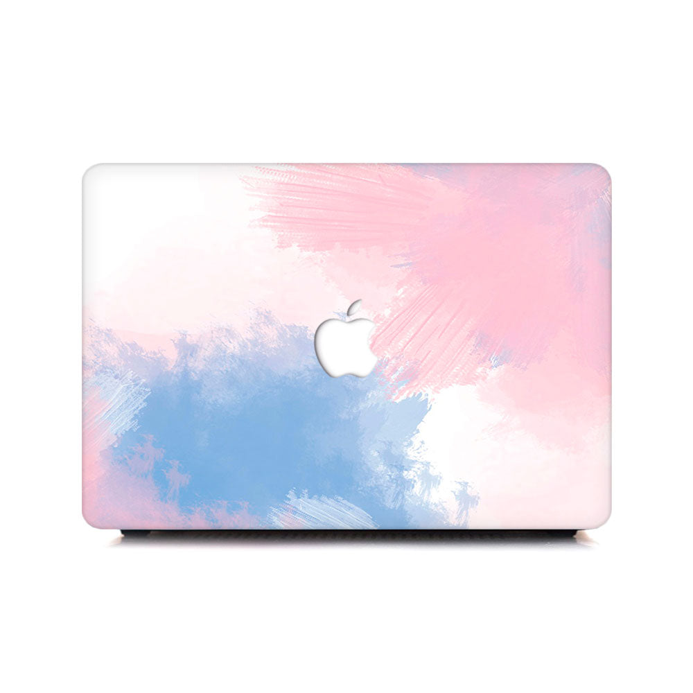 Macbook Case - Soft Blue Pink Violet Mist - colourbanana