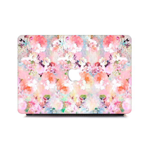 Macbook Case - Pink Plush Florals