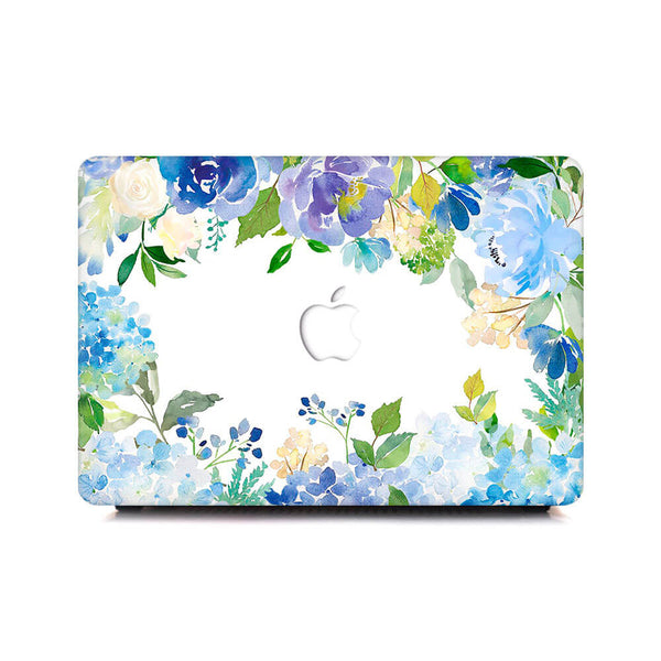 Macbook Case - Watercolor Blue Hydrangea