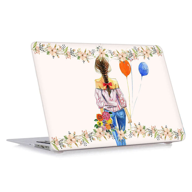 Macbook Case - Flying Balloons Girl