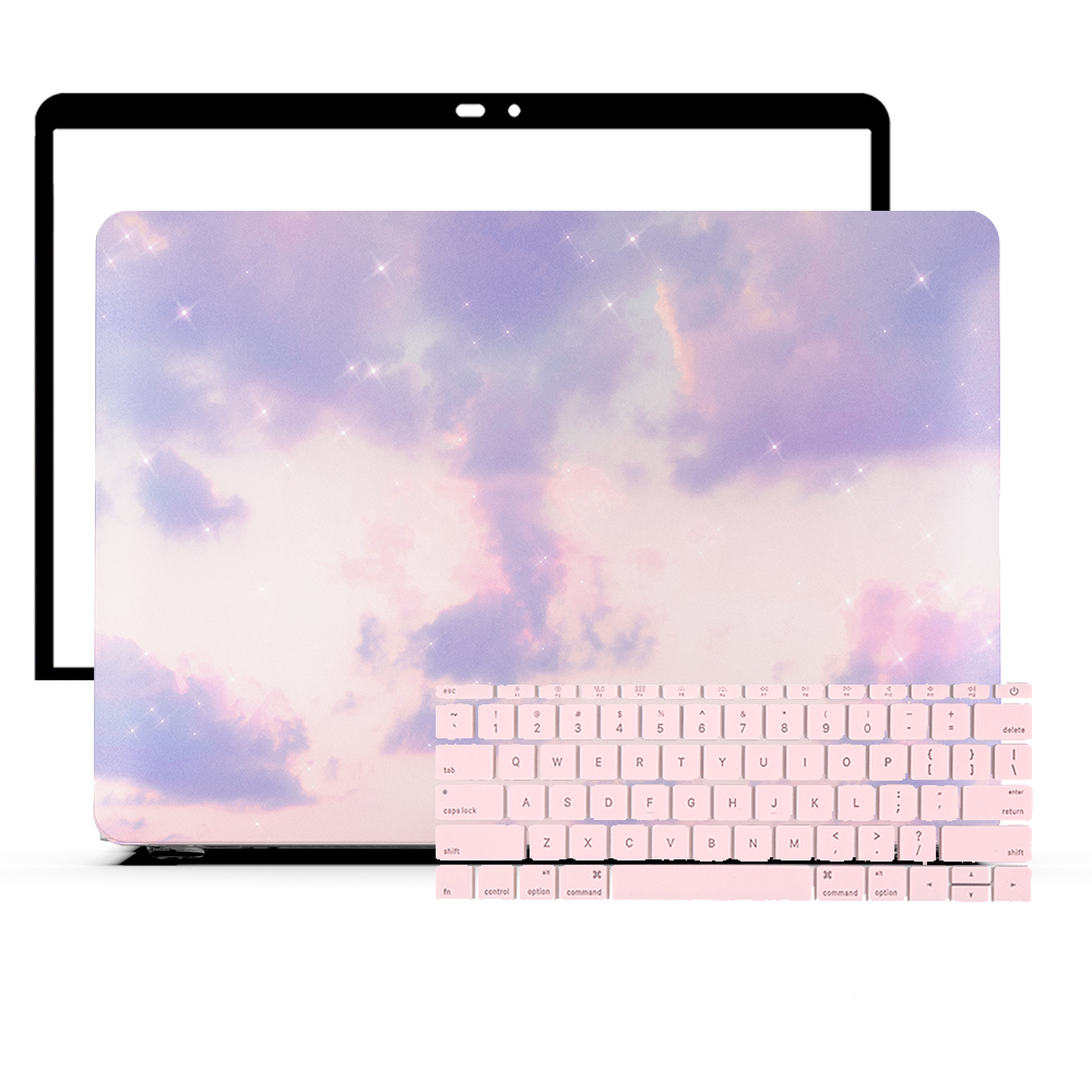 MacBook Skin Set - Blue Hint Marble - colourbanana