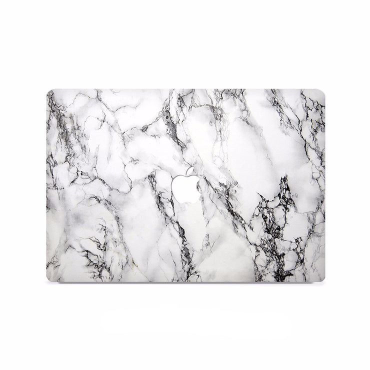 Macbook Decal - Grey And Black Marble - colourbanana